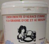 Choucroute cuisinée à la graisse d'oie et au Riesling